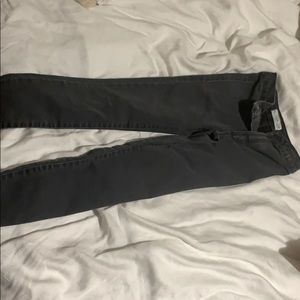 Kids Zara high wasted skinny grey jeans. Size 8